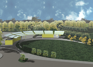 2004 Skate Park Pavillion - Rendering and Photo (Design Development and CD's)