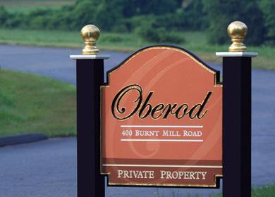 Oberod Estate sign