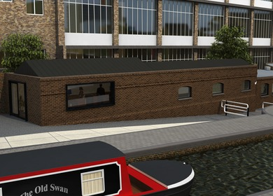 Canal Side Cafe, Regents Canal, London