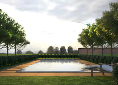 Swimming Pool Tech. and render Piscine Laghetto Italy