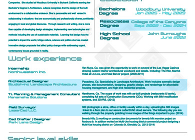 Juliana Resume Architectural Designer 2014