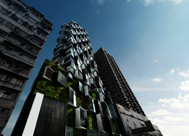 Aedas designs a serviced apartment building in one of the most densely populated places on the planet