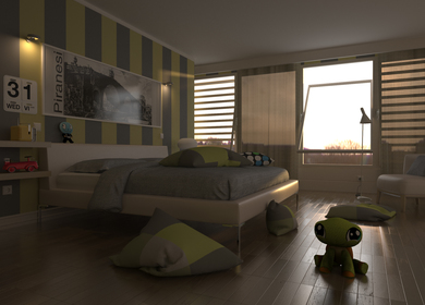 Rendering for a room