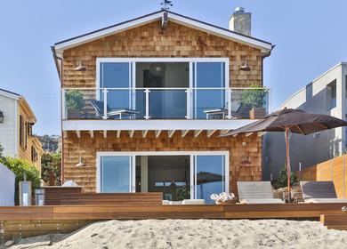 Malibu Architecture in Beachfront Home Utilizes Occams Razor Principle