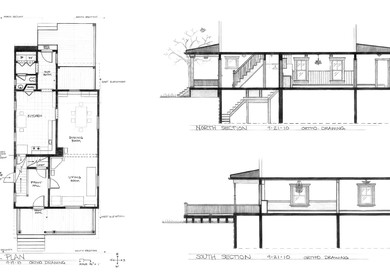 MY HOUSE: PLAN, SECTIONS & AXON (Fall 2010)