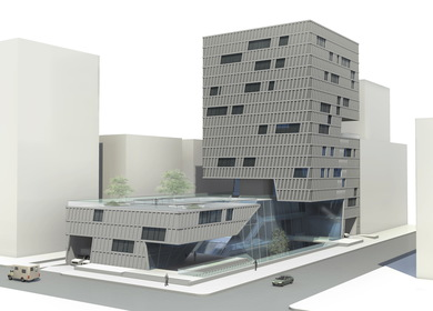 URBAN SPACE WEAVING - Multi-Use Building Type For Houston
