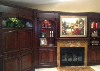 rhodes residence custom entertainment center