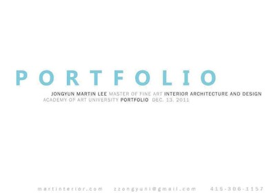 Martin Lee's Portfolio