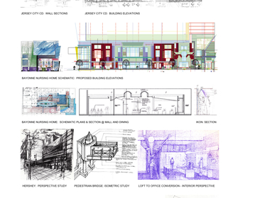 Various Architectural Works and Artwork Paintings and Drawings