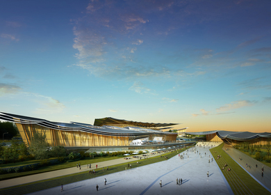 Rafael de La-Hoz, associated with ADRI-HIT, wins a design competition that includes five museums and a sports centre in Meishan, China