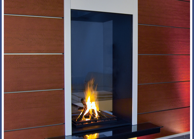 Double sided fireplace / cheminée double faces