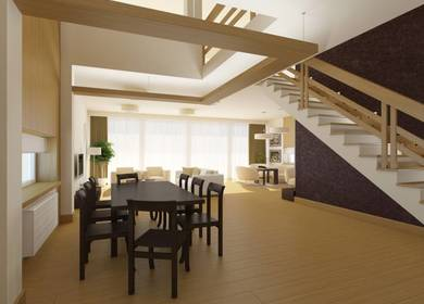 Interior Design of a Standard Cottage for Professors in the Cottage Area of Skolkovo MMS