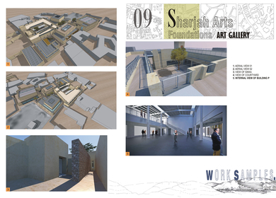 Sharjah Art Foundation - Art Gallery & Exhibition areas.