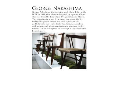 George Nakashima Trade Show Booth ICFF