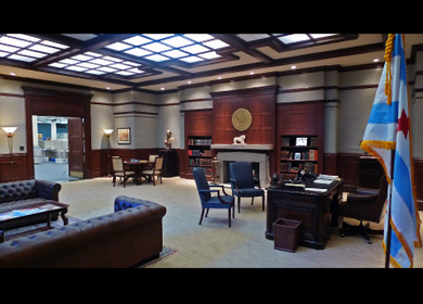 Boss Kane's office set
