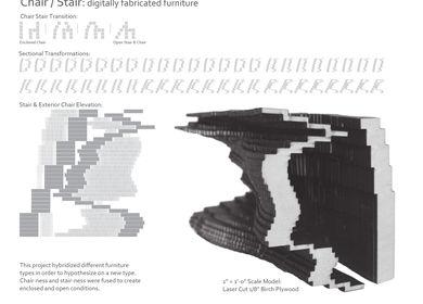 Chair / Stair - Digital Fabrication Furniture Design