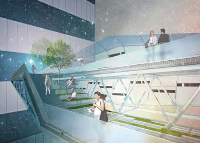 Sky Walk - Urban Bridge for Downtown Los Angeles