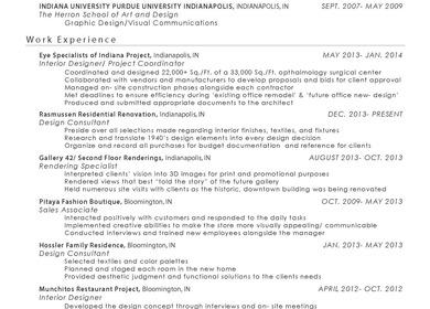 Resume/ Portfolio