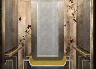 Bronze Magnolia Elevator Panels