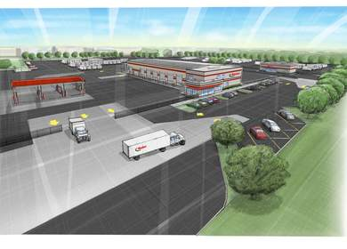 Ryder - New Prototype 6 Bay Maintenance Facility, Used Truck Center and Refueling Station