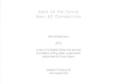 Seattle Next 50 Competition