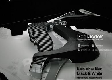 Black and White Scheme Model Making