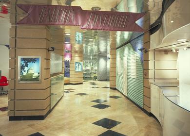 Omni Hotel Shopping Arcade & Lobby.
