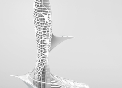 skyscraper concept 3D