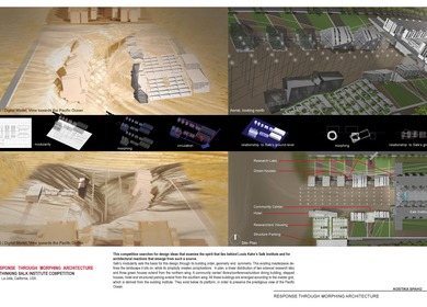 RESPONSE THROUGH MORPHING ARCHITECTURE RETHINKING SALK INSTITUTE COMPETITION