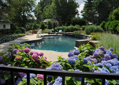 A Pool with a Perennial Garden