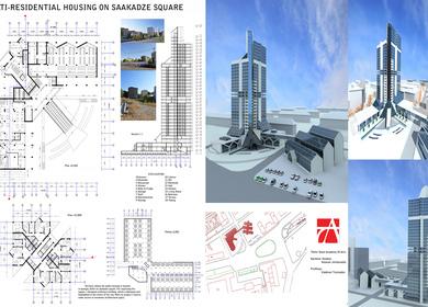 Multi-Residential Housing On Saakadze Square