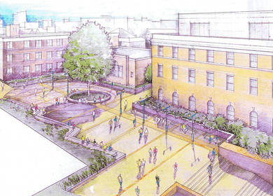 H2L2 (Feasibility Study) Saint Peters College Square and Statue of St. Peters, Jersey City, NJ