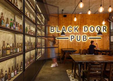 BLACK DOOR PUB GARAGE STYLE