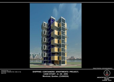 Shipping Containers Apartments Project