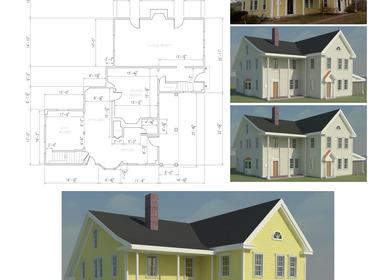 Floor Plan As-built + Color Study