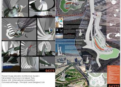 Thyssen Krupp elevator Architecture Award – Tall emblem Structure in Za'abeel Park