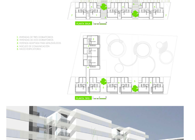 39 Units Social Housing Building in Sant Joan de Alicant.