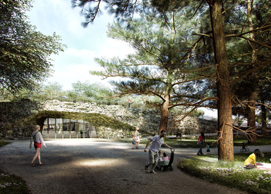 Garden of the 21st Century with Underground Exhibition Pavilion