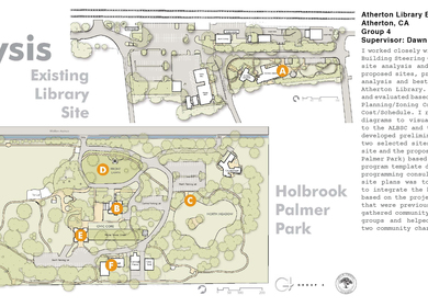 Atherton Library Building Project - Site Selection