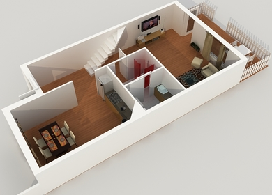 3D Floor Plan Design & Modeling