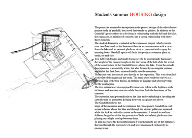 Student summer housing design