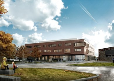Francois Renier Architectes - Hospital, Saint Hillaire, fr
