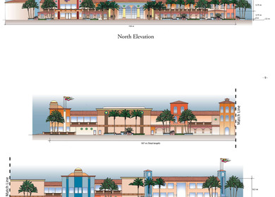Cabo Paradise Condominium North & East Elevations