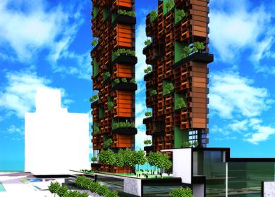 Suspended garden Tower