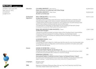 Resume + Work sample