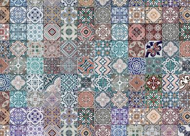 Tiles wallpaper design
