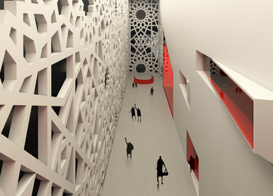"Reconstruction of ""Pushkinsky"" Cinema - dynamic facade"