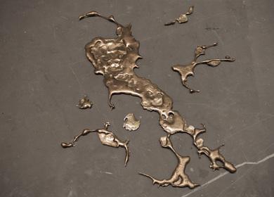 Bronze Liquid Forms Concept