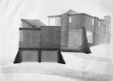 B. Pencil on paper, image 2