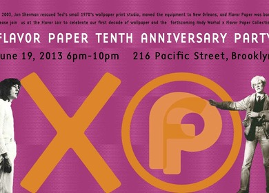 Andy Warhol X Flavor Paper Collection & 10th Anniversary in NYC